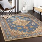 Moon Hand-Tufted Wool Navy/Khaki Area Rug Rug Size: Rectangle 8' x 10'