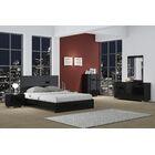 Jayda Platform 4 Piece Bedroom Set Color: Black, Bed Size: California King