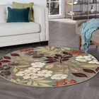 Highfill Transitional Seafom Area Rug Rug Size: Round 7'10''
