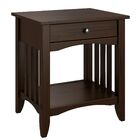 Hornung End Table with Storage Color: Espresso