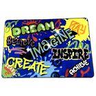 Beaty Inspiration Graffiti Blue/Yellow/Green Area Rug Rug Size: Rectangle 7'6