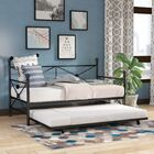 Timberwyck Daybed with Trundle Color: Black, Size: Twin