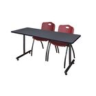 Marin Training Table with Wheels Chair Finish: Burgundy, Size: 29