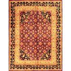 Agra Hand-Knotted Wool Purple/Black Area Rug