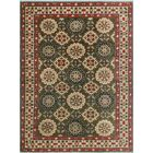 Sharpe Hand-Knotted Wool Red/Green Area Rug