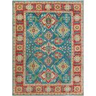 Sharpe Hand-Knotted Wool Blue/Red Area Rug