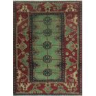 One-Of-A-Kind Brook Hand-Knotted Wool Green/Black Area Rug