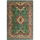 Sharpe Hand-Knotted Wool Green Area Rug Rug Size: Rectangle 2'7