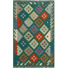 Corda Hand-Knotted Wool Green Area Rug