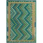 Corda Hand-Knotted Wool Green/Yellow Area Rug