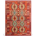 Corda Hand-Knotted Wool Red Area Rug
