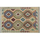 Corda Hand-Knotted Wool Blue/Cream Area Rug