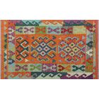 Corda Hand-Knotted Wool Oran/Pink Area Rug