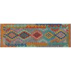 Corda Hand-Knotted Wool Orange/Blue Area Rug