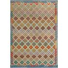 Corda Hand-Knotted Wool Green/Beige Area Rug