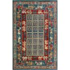 Woodmoor Hand-Knotted Wool Blue Area Rug