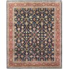 One-of-a-Kind Broncho Genuine Oriental Hand-Knotted Wool Red/Blue Area Rug