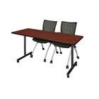 Marin Mobile Training Table Tabletop Finish: Cherry, Size: 29