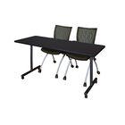 Marin Mobile Training Table Tabletop Finish: Mocha Walnut, Size: 29