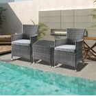 Tashelle 3 Piece Bistro Set with Cushions