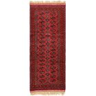 One-of-a-Kind Bunceton Runner Hand-Knotted Wool Red Area Rug