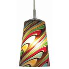 Carnevale 1-Light Bell Pendant Shade Color/Pattern: Red/Green Rio