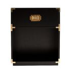 Hana End Table with Storage Color: Black