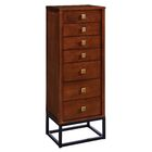 Art Free Standing Jewelry Armoire with Mirror Color: Dark Tobacco