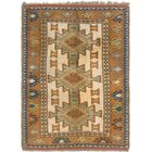 One-of-a-Kind Glenaire Hand-Knotted 4' x 6' Wool Beige/Tan Area Rug