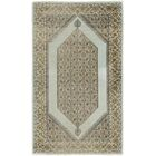 One-of-a-Kind Laclede Hand-Knotted 3' x 5' Silk Light Blue/Tan Area Rug