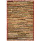 One-of-a-Kind Didcot Hand-Knotted 2' x 3' Wool Red/Gold Area Rug