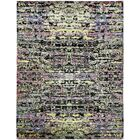 One-of-a-Kind Easton Hand-Knotted Silk Purple/Yellow Area Rug