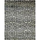 One-of-a-Kind Easton Hand-Knotted Silk Black/Beige Area Rug