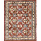 One-of-a-Kind Alayna Hand-Knotted Wool Red/Blue Area Rug