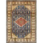 One-of-a-Kind Alayna Hand-Knotted Wool Blue/Yellow Area Rug
