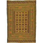 One-of-a-Kind Warminster Hand-Knotted Wool Green/Brown Area Rug