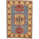 One-of-a-Kind Alayna Hand-Knotted Wool Yellow/Blue/Red Area Rug