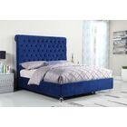 Denzel Panel Bed Size: King, Color: Navy Blue