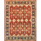 Sultanabad Hand-Knotted Wool Rust/Black Area Rug