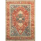 One-of-a-Kind Serapi Hand-Knotted Wool Red/Green Area Rug
