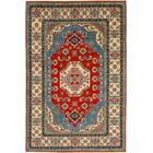 One-of-a-Kind Alayna Hand-Knotted Wool Ivory/Red Area Rug