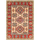 One-of-a-Kind Alayna Hand-Knotted Wool Cream Area Rug