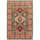 One-of-a-Kind Alayna Hand-Knotted Wool Green/Red Area Rug
