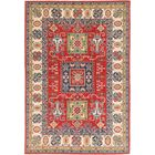 One-of-a-Kind Alayna Hand-Knotted Wool Red/Ivory Area Rug