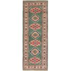 One-of-a-Kind Alayna Hand-Knotted Wool Green Area Rug