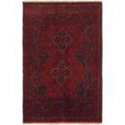 One-of-a-Kind Auxvasse Hand-Knotted Wool RedArea Rug