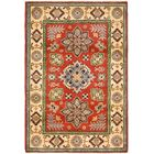 One-of-a-Kind Alayna Hand-Knotted 4' x 6' Wool Red/Beige Area Rug