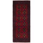 One-of-a-Kind Auxvasse Hand-Knotted 2' x 5' Wool Red Area Rug