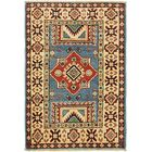One-of-a-Kind Alayna Hand-Knotted 2' x 3' Wool Blue/Beige Area Rug