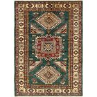 One-of-a-Kind Alayna Hand-Knotted Wool Green/Beige Area Rug